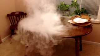 Dry Ice in Boiling Water