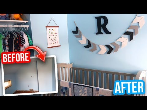 ROOM TRANSFORMATION ON A BUDGET: Baby Nursery Makeover