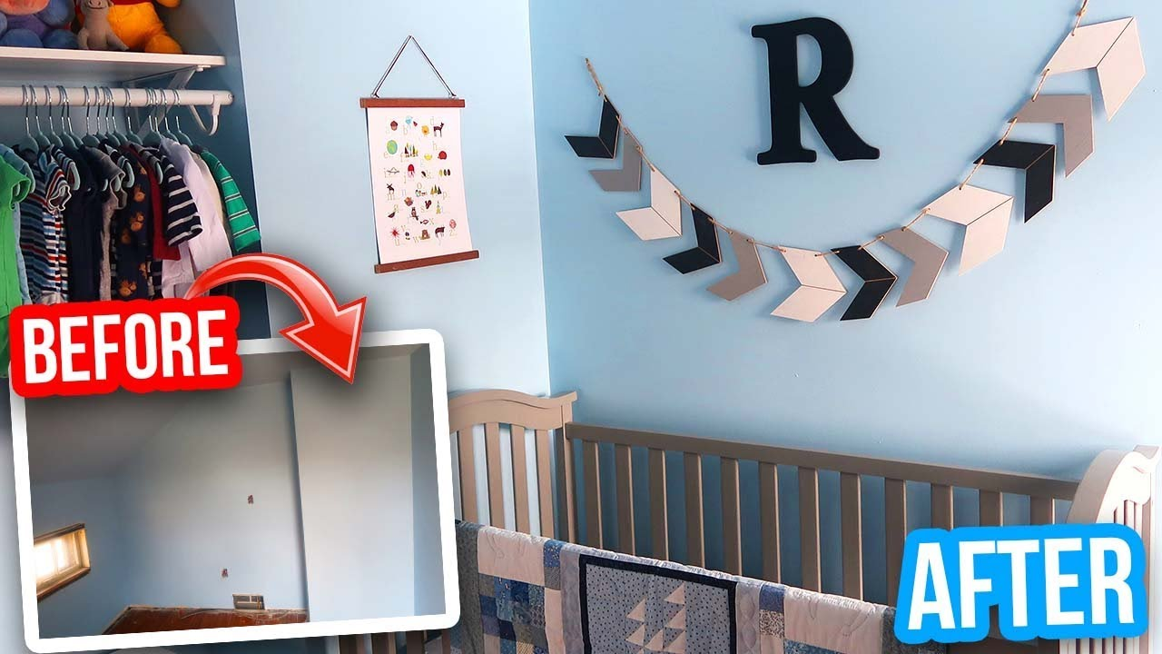 ROOM TRANSFORMATION ON A BUDGET: Baby Nursery Makeover - YouTube