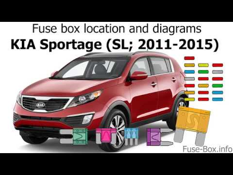 Fuse box location and diagrams KIA Sportage (SL; 2011-2015) - YouTube