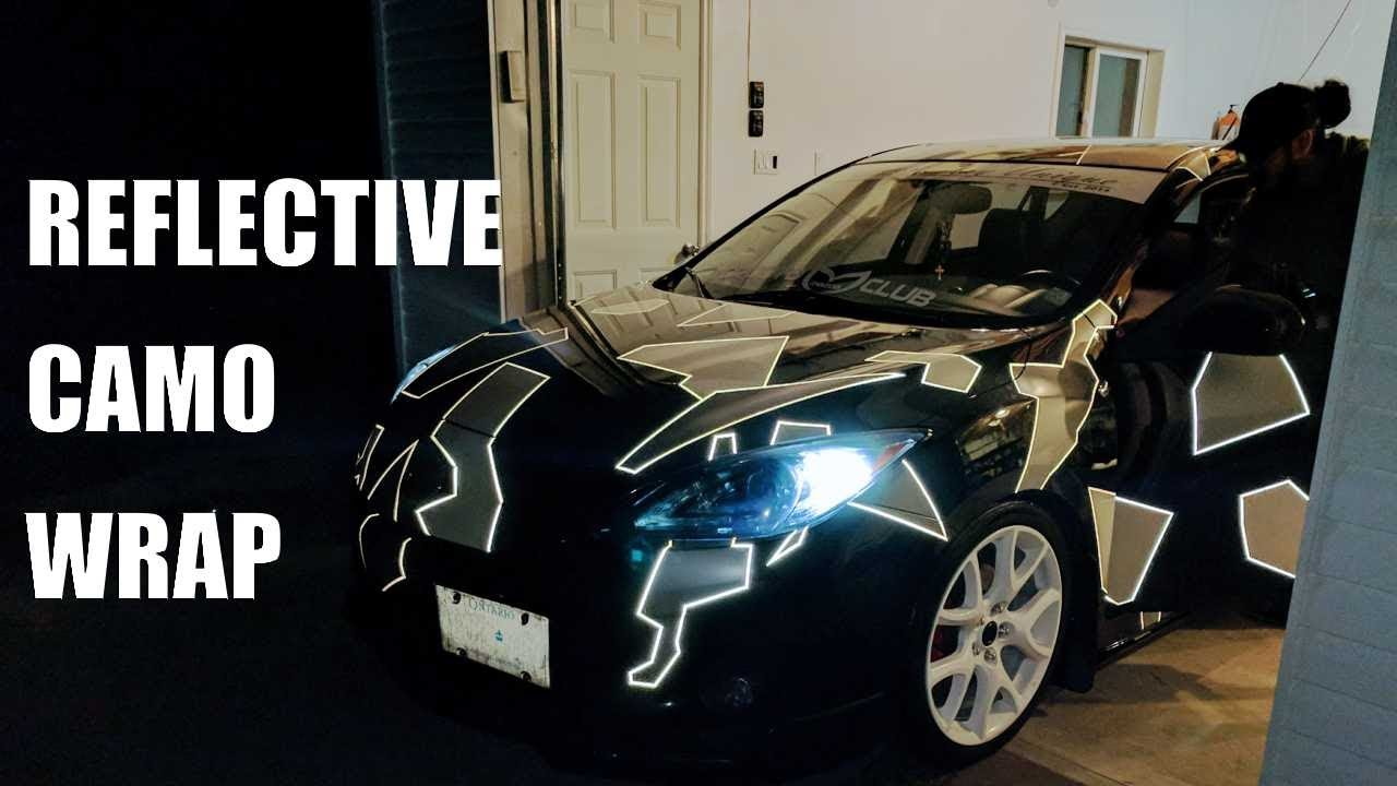 Reflective Camouflage Vinyl Wrap Youtube