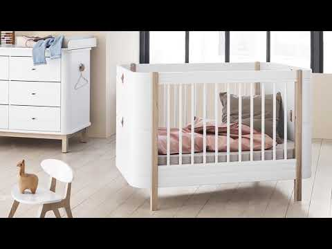 Oliver Furniture Wood Mini 4 In 1 Cot Bed White And Oak