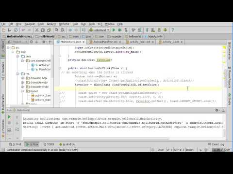 EditText input to TextView output in Android Studio