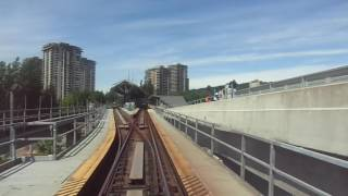 Vancouver Skytrain: Millennium Line from Columbia to Gilmore, May 13 2016