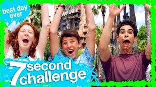 7 second challenge with cameron boyce at disney s hollywood studios   wdw best day ever