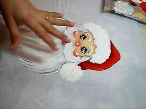 Pintura Em Tecido Acabamentos Do Papai Noel Youtube