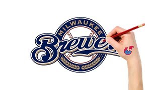 Fast Drawing And Coloring For Toddlers - MLB Milwaukee Brewers - Puzzle Kid