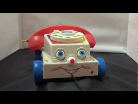 Fisher Price Chatter Phone 1960s Pull Toy Chatter Telephone Toy Review Toy Story 3 Phone