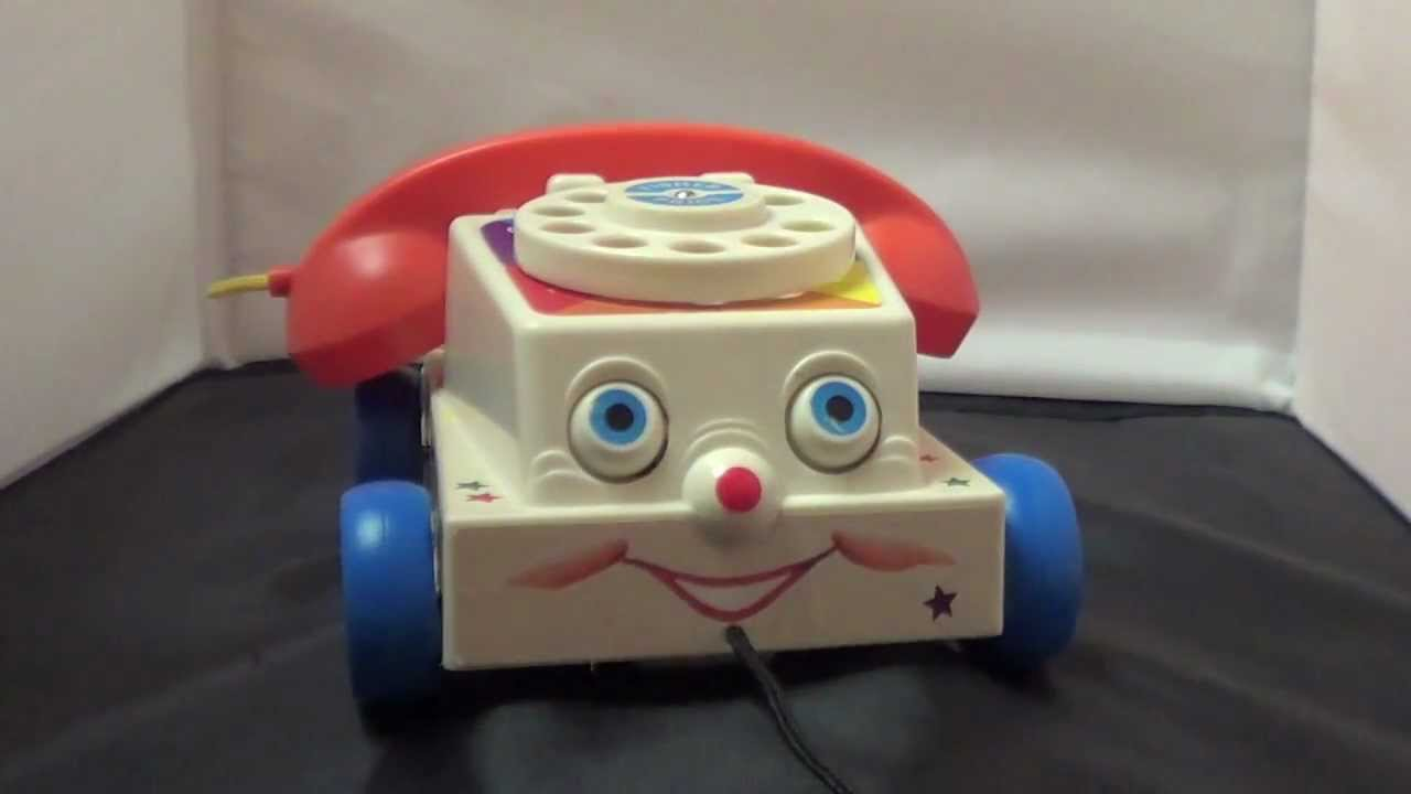 Fisher Price Chatter Phone 1960s Pull Toy Chatter