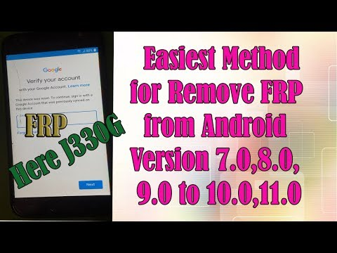 Here Easiest Method for Remove FRP from Samsung Galaxy J3 Pro _ SM J330G  Android Version 8.0