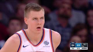 Kristaps Porzingis Pours in Career-High 40 Points and 6 Blocks vs. Pacers