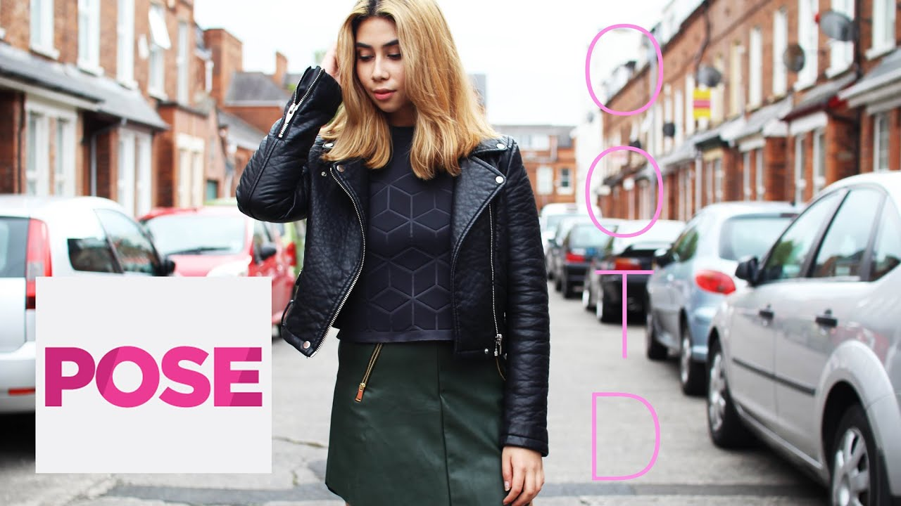 Leather Jacket and Green Leather Mini Skirt | Tara's OOTD S1E7/8 ...