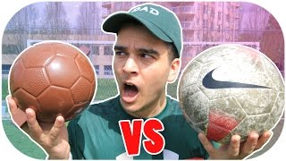 CHOCOLATE FOOTBALL VS NORMAL FOOTBALL! FUNNY FOOTBALL CROSSBAR CHALLENGE!