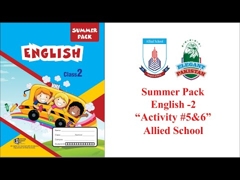 class-2-english-summer-pack-activity-5-and-6.-allied-school