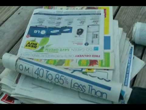 DIY Newspaper Logs