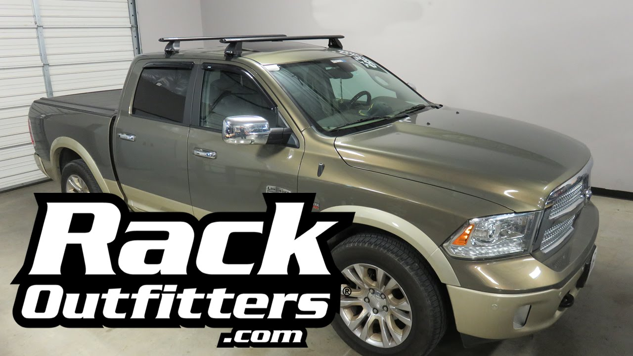 dodge ram 1500 with rhino rack 2500 vortex roof rack cross bars