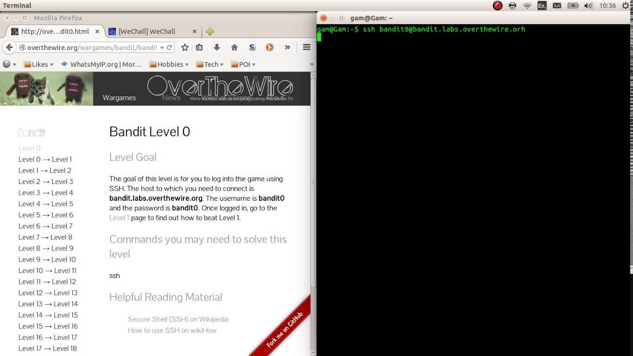 Overthewire org [SPOILER] wargame bandit level 0