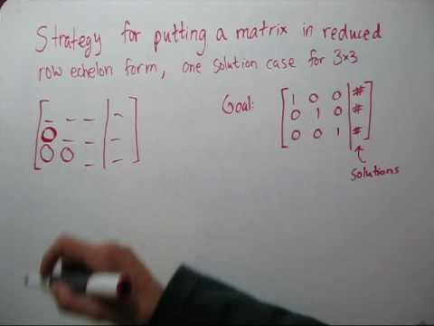 Strategy for Putting an Augmented Matrix in Reduced Row Echelon Form