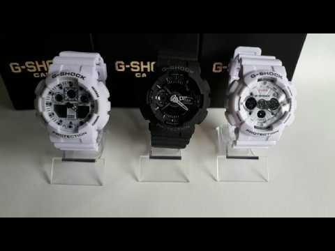 dffb18be1d2 Como ajustar os Ponteiro do Relógio Masculino Casio G-Shock Ga-100 Ga-110 e  Ga-120 (RÉPLICA) 1° LIN