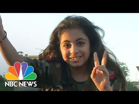 Syrian President Bashar Al-Assad Supporters Rally After Air Strikes | NBC News