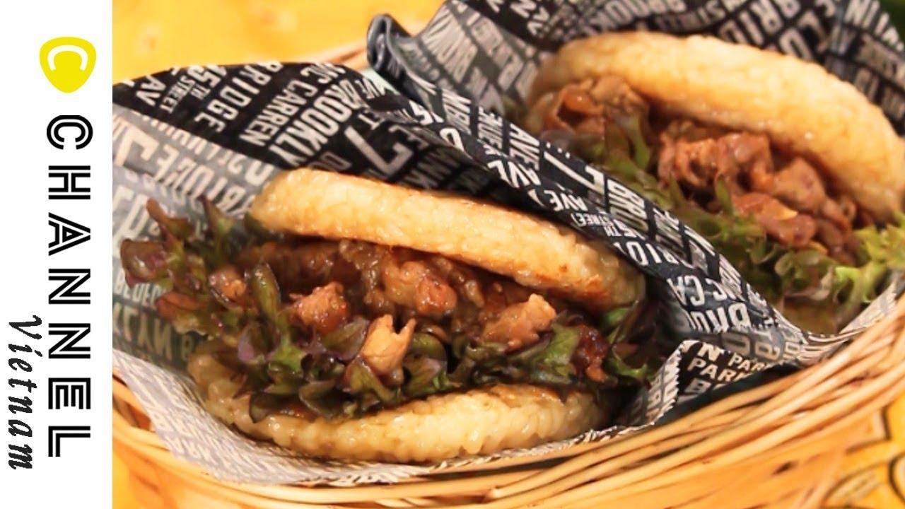 Burger cơm kẹp thịt bò sốt BBQ Hàn Quốc