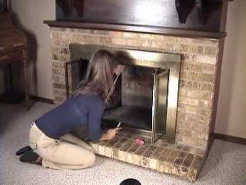 How To Install a Chimney Balloon to stop fireplace draft - YouTube