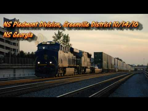 Railfanning NS Greenville District 10/16 & NS ATL North District 10/23/16: Ft. NS 222 with N&W