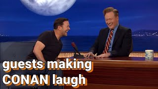 Guests making Conan laugh | COMPILATION