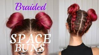 Upside Down Dutch Braids + SPACE BUNS | Stella