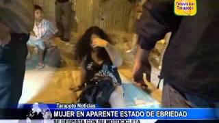 MUJER EN APARENTE ESTADO DE EBRIEDAD SE DESPISTA CON SU MOTOCICLETA