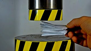CAN A SHEET OF PAPER BE FOLDED MORE THAN SEVEN TIMES USING A HYDRAULIC PRESS