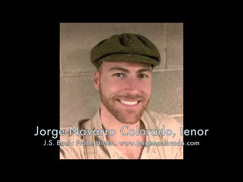 Jorge Navarro-Colorado, tenor, sings
