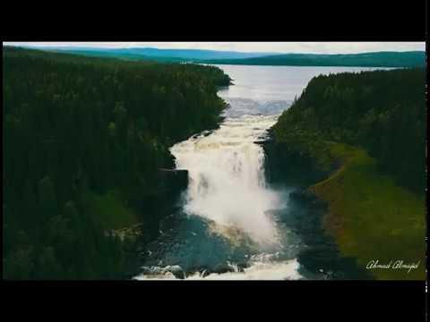 Sweden Waterfall Tannforsen [4K]