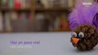 Haz un Pavo real con una piña | manualidades para niños | @iMujerHogar