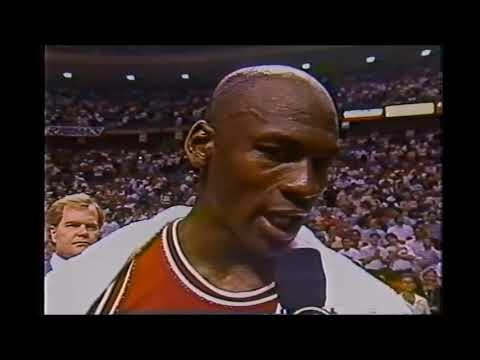 Michael Jordan Displays Class After Getting Eliminated by Pistons in 1989 & 1990.