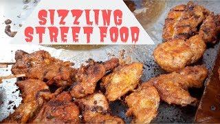Sizzling Street Food: Varieties of Foods Made of Chicken