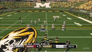 NCAA Football 14 - Georgia Bulldogs vs. Missouri Tigers Gameplay [HD]
