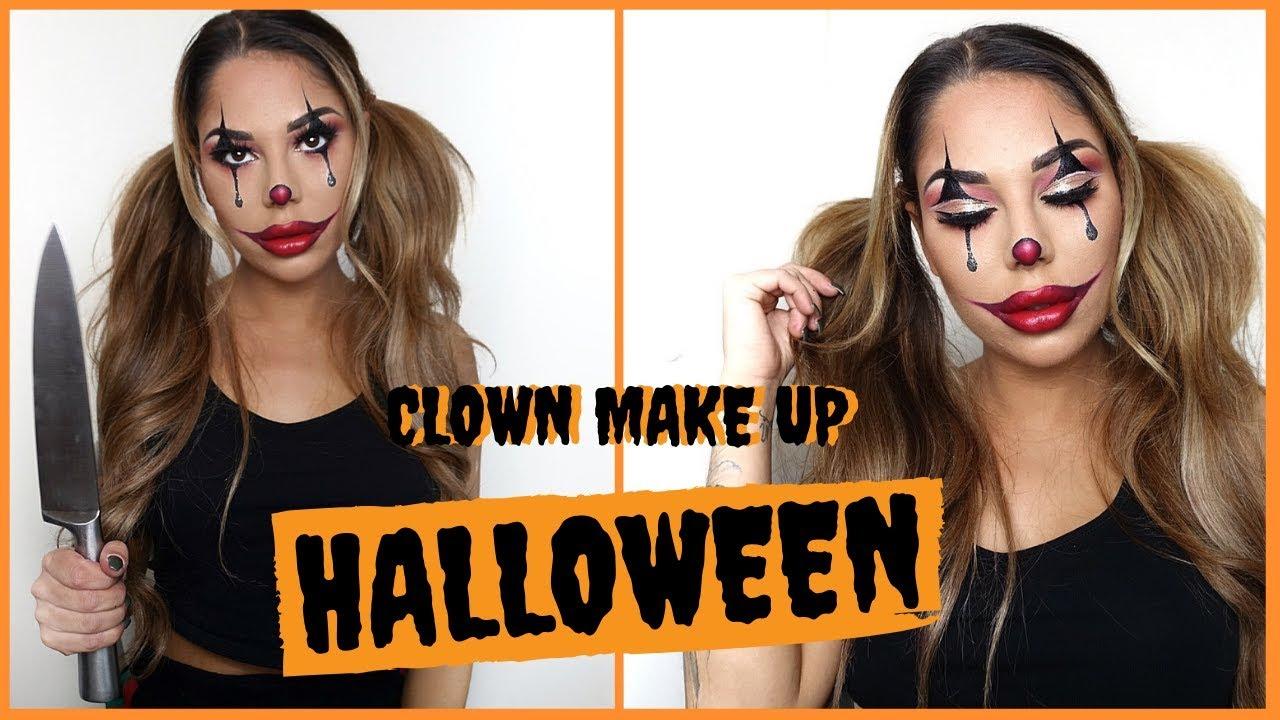 Halloween Sminkningar Clown.Halloween Glam Clown Visar Er Steg For Steg