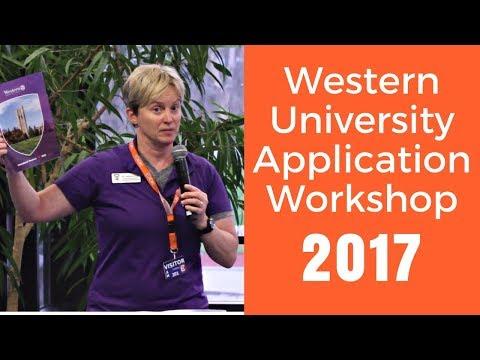 Western University Application Workshop (2017)