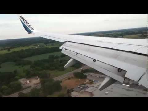 Landing At Hamilton International Airport (YHM) On WestJet 737-700