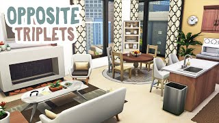 Opposite Triplets Apartment || The Sims 4 Apartment Renovation: Speed Build