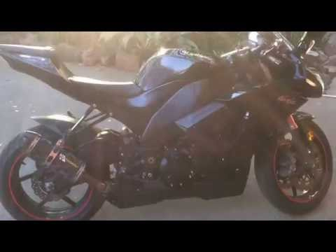 Kawasaki ZX10R startup (two brothers exhaust, DNA air filter )