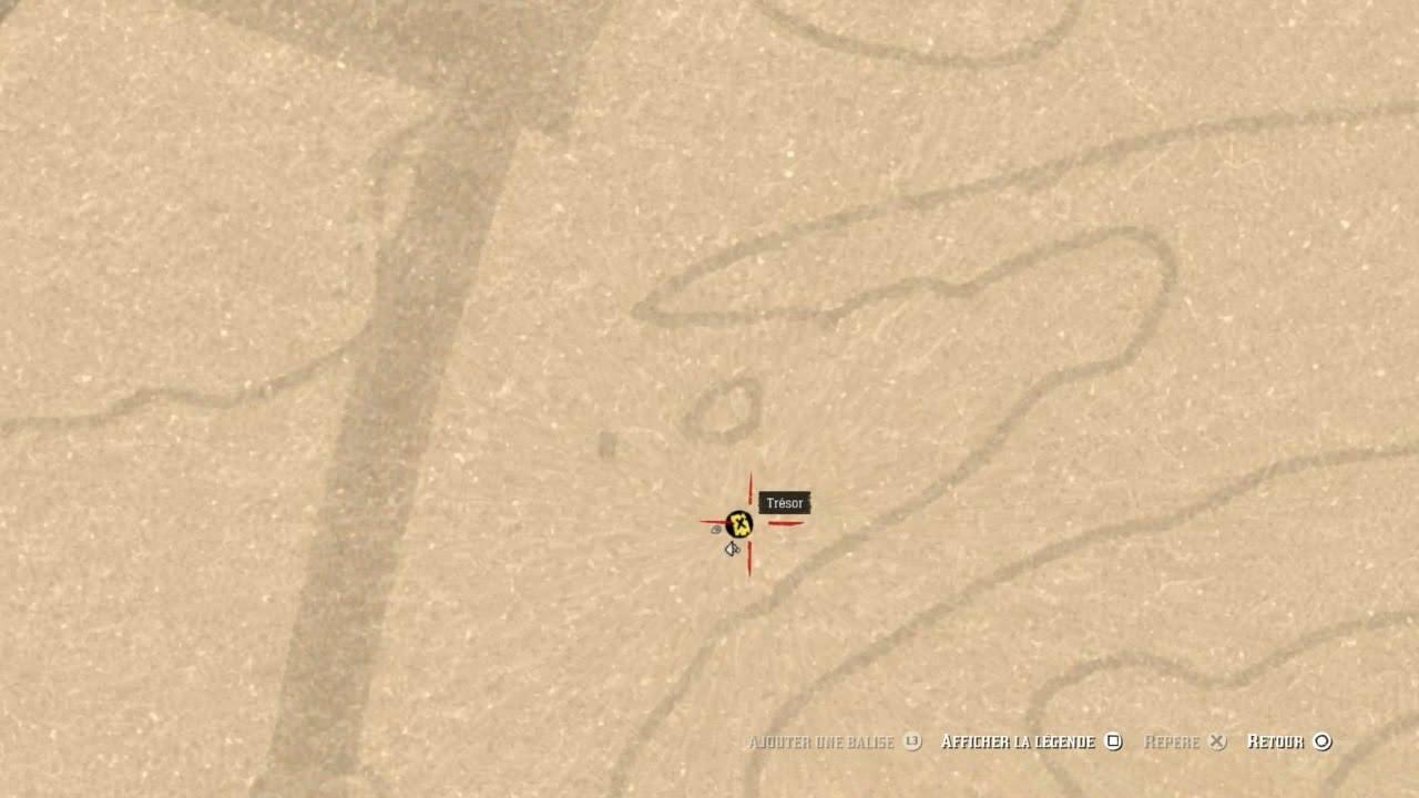 carte au trésor red dead redemption 2 Red dead rédemption 2 online Carte au trésor Clingman Nord n°2