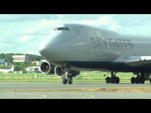 Первый рейс Боинга 747- 400F Sky Gates в Жуковский 09.07.20