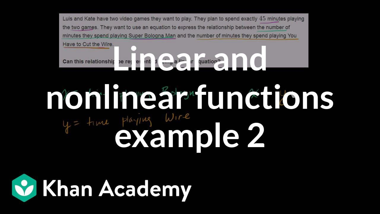 Linear & nonlinear functions: word problem (video) | Khan