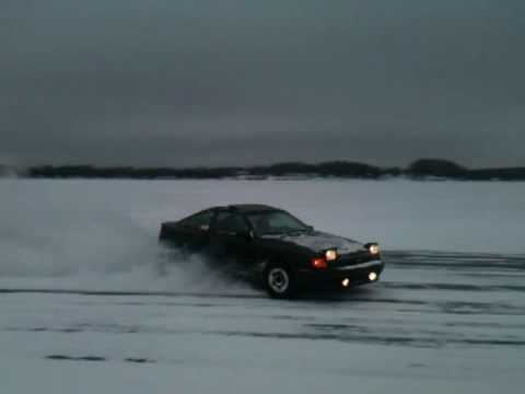 Celica all trac ice race spinout
