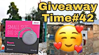 Mivi soeaker Giveaway by Me// How to win MIVI speaker // special gift for active Subscribers/