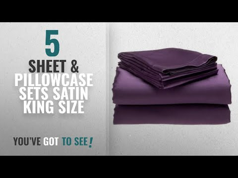 top-10-sheet-&-pillowcase-sets-satin-king-size-[2018]:-4-piece-king-size,-solid-purple-soft-silky