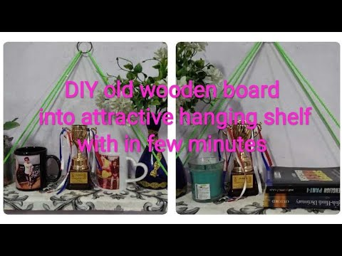 #DIY hanging shelf within few minutes