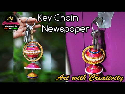 Newspaper Key Chain   Key Holder   Best out of Waste   Art with Creativity 173